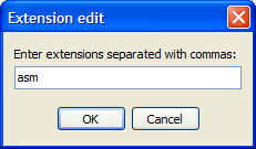 adding the asm extension