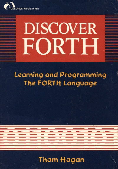 Discover Forth ISBN 0931988799