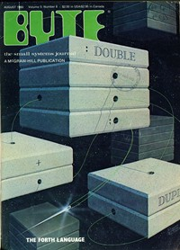 Byte August 1980 Cover