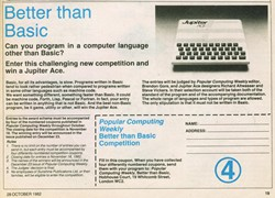 Popular Computing weekly competition to win a Jupiter Ace Week 4