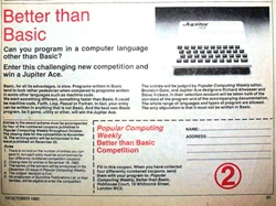 Popular Computing weekly competition to win a Jupiter Ace Week 2