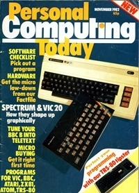 Personal Computing Today November 1983 Cover