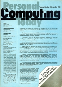 Personal Computing Today November 1983 page 3