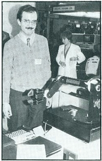 Steve Vickers at the Personal Computer World Show September 1983